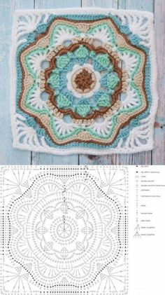Crochet Square Patterns The Ultimate Granny Square Diagrams Collection ⋆ Crochet Kingdom - The Ultimate Granny Square Diagrams Collection. Crochet Mandala Pattern, Crochet Motifs, Granny Square Crochet Pattern, Crochet Blocks, Crochet Diagram, Crochet Stitches Patterns, Crochet Chart, Crochet Squares, Diy Crochet