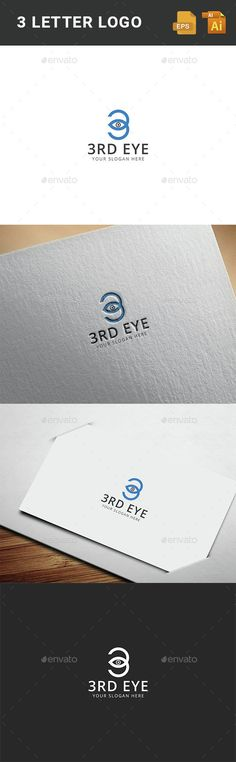 3 EYE	  Logo Design Template Vector #logotype Download it here: http://graphicriver.net/item/3-eye-logo-template-/15224335?s_rank=191?ref=nexion