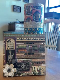 Rare Oddities Palette Board & Steampunk Spells Container Graphic 45 - https://www.etsy.com/shop/AllisonCraftland