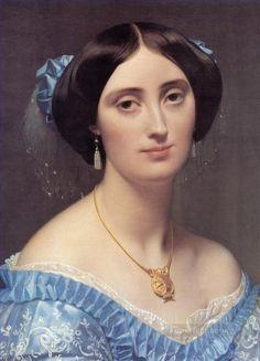 "Ingres portrait of Princess Broglie hat box for 12/"" dolls"