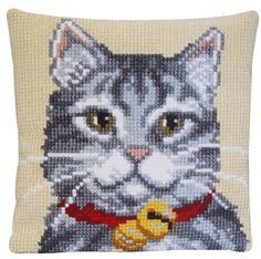 Подушка для вышивания Pako 003.123 Серый кот