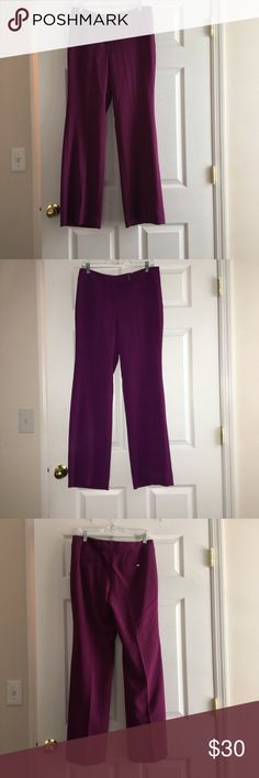 NWOT Stunning Burgundy New York & Company Trousers These burgundy New York & Company trousers are absolutely stunning! They are perfect if you are having a special event or any day you want to wear them! They have never been worn before! In excellent condition! New York & Company Pants Trousers