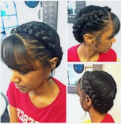 35 Goddess Braids with Weave Hairstyles in 2019 - Summer Braids French Braid With Weave, Two Braids With Weave, Two French Braids, Haircut Styles For Women, Short Haircut Styles, Short Hair Updo, Curly Hair Styles, Natural Hair Styles, Box Braids Hairstyles