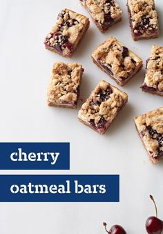 Cherry Oatmeal Bars – Fresh dark sweet cherries are so delicious all on their own—but, make these oatmeal bars and their flavor will truly pop, and it's a treat you'll be proud to bring to the potluck.