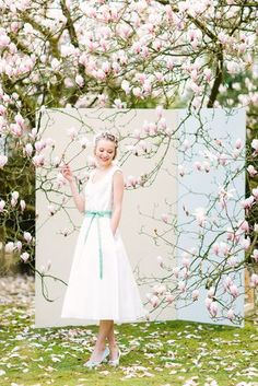 vintage Brautkleid wadenlang mit Petticoat