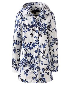 15 Cute Raincoats to Keep You Dry This Spring-Best Raincoats for Women Spring- FASHION MEETS FUNCTION Not only does this coat have amazing functionality; waterproof, sealed seams, adjustable and removable hood, it's floral print will ensure that you'll feel pretty even on the dreariest days. Coastal Rain Park, $109; landsends.com. Browse our selection of spring coats at redbookmag.com.