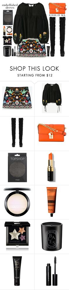 """""""Embellished Sleeves"""" by doga1 ❤ liked on Polyvore featuring Boohoo, Dolce&Gabbana, Topshop, Bobbi Brown Cosmetics, MAC Cosmetics, Aesop, Givenchy, Diptyque, NARS Cosmetics and embellishedsleeves"""