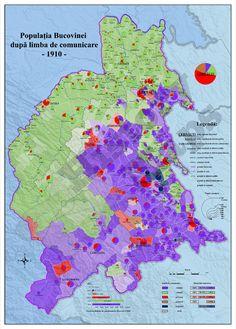 The linguistic maps of Bukovina 1880-1910