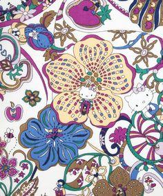Kitty Wonderland Hello Kitty Print, Liberty Art Fabrics  Size 1m x 1.37m   Price £21.00