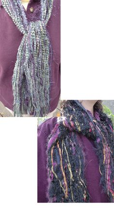 fiber scarf made water soluble fabric stabilizer ..... you just stitch over the yarn!