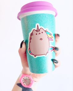 Glam up your coffee drinking activities with this snazzy Pusheen travel mug as seen on top blogger judithinwonderland