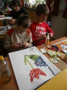 skola1 | Výtvarná výchova - jarní mozaika z čajových sáčků – rajce.net