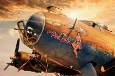 nose art, the pink lady– http://thepinuppodcast.com  re-pinned this because we are trying to make the pinup community a little bit better.