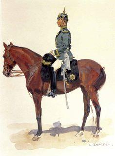 Leutnant, König Sächsisches Komb. Jäger zu Pferde (By Carl Becker, from the Anne S.K. Brown Military Collection)