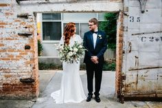 Modern downtown Atlanta wedding portrait