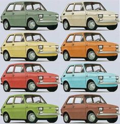 Fiat 126p - kolorystyka