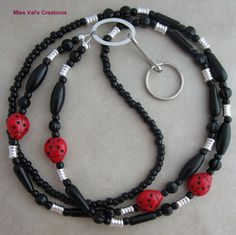 Good luck ladybug lanyard for your ID badge, transportation pass, keys, cruise card and more!