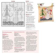 Cross Stitch XS Five Star Ornament, Just Cross Stitch Christmas Ornaments 2014, Vol. 32, No. 6 - SamSarah Design