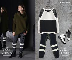 ╞ #REGNUM Invierno15 ╡   TREND REVIEW: Deportivo Cotton. ¡Te proponemos dos outfits súper urbanos para que te sumes a esta tendencia!   el LOOK URBANO  - Polerón Lana // SWBELL99 - Pantalón Color Block // PTBELL62 - Zapatillas con Piel //  ZBELL122   el CASUAL SPORT  - Buzo Neopreno Cotton // SWBELL90 - Pantalón Color Block // PTBELL62 - Botín Charol // ZBELL123