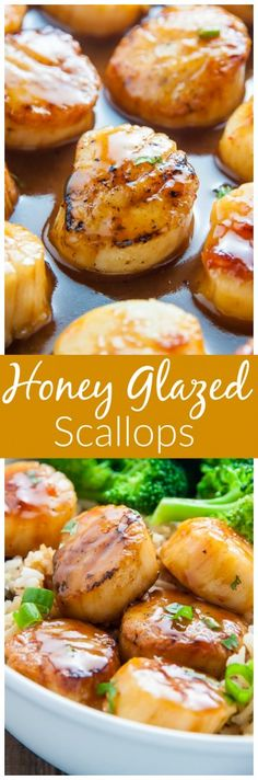 Holy YUM! Honey-Glazed Scallops are ready in just 15 minutes.
