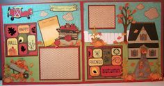 Scrapbook layout for fall.  Uses lots of Cricut cuts.