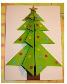 Christmas Tree Card... Paper Fold: Origami