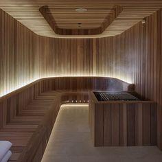 Crown Towers Perth, lighting design by Electrolight Spa Design, Spa Interior Design, House Design, Home Spa Room, Spa Rooms, Sauna Steam Room, Sauna Room, Saunas, Sauna Lights