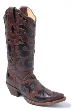 Corral Black Goat Cowgirl Boots - on sale @ HeadWestOutfitters.com!