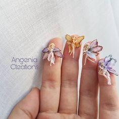 Tiny clay fairies!