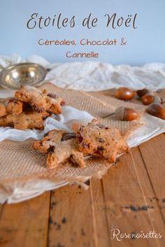 Rosenoisettes: Etoiles de Noël croquantes aux céréales, chocolat et cannelle
