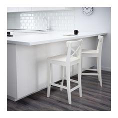 "INGOLF Bar stool with backrest - 24 3/4 "" - IKEA"