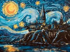 DIY Diamond Painting Starry Sky by Hogwarts, Mosaic, Cross Stitch Full Sq .- DIY diamond painting starry sky by Hogwarts, mosaic, cross stitch full square drill diamond painting kit sticker home decoration gifts Hogwarts, 3 Piece Painting, House Painting, Creative Wall Painting, Night Sky Painting, Mosaic Crosses, Diamond Paint, Cross Stitch Tree, The Masterpiece