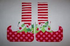 Fabric Applique PDF TEMPLATE Pattern.....Christmas Elf by etsykim, $2.00