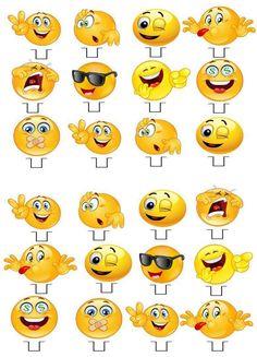 Cupcake toppers--- http://www.ebay.co.uk/itm/Emoji-Emoji-STAND-UP-Cupcake-Fairy-Cake-Toppers-Edible-Rice-Paper-Decorations-/222144034984?hash=item33b8d0f8a8:g:tJQAAOSw9mFWF7wg