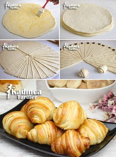 Chocolate Katmer Poğaça Recipe, How To - backen backen recipes bread in 2020 Donut Recipes, Pastry Recipes, Candy Recipes, Bread Recipes, Sweet Recipes, Cooking Recipes, Veggie Recipes, Pogaca Recipe, Homemade Croissants