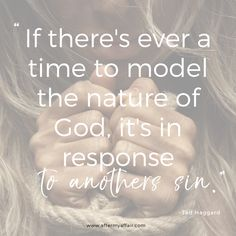 Wondering how God sees you when you've sinned? How do you respond when you see others sin? This is a great quote to remember. God is about restoration. Christian Living, Christian Life, Godly Relationship, Relationships, Quotes About God, Quotes To Live By, Infidelity Quotes, Seeing You Quotes, Affair Quotes