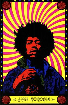 Jimi Hendrix Great psychedelic artwork on this Jimi poster