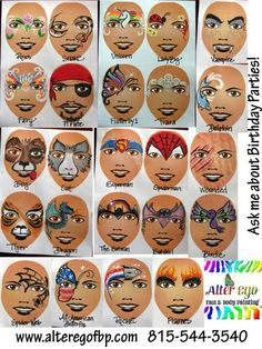 baby alive face paint fairy instructions