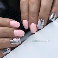 Маникюр | Дизайн ногтей Beach Nails, Butterfly Design, Beautiful Nail Art, Nail Manicure, Simple Nails, Nails Inspiration, Summer Nails, Color Splash, Hair And Nails