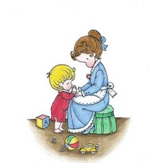 Joan Walsh Anglund brings back great memories of my childhood; there was a special kids page by Anglund in one of my mom's magazines