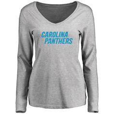 Women's Carolina Panthers Design Your Own Long Sleeve V-Neck T-Shirt - $34.99