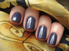 China Glaze Queen B : subdued blue with a drop of purple, noble
