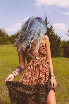 nocturnal-oblivion: freepeople: Floaty Guaze Dress styled by FP Me user melodimeadows on #FPMe fashion