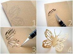 más y más manualidades: Mariposas de papel