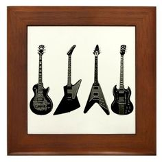"4 GIBSON GUITARS Framed Tile by CafePress by CafePress. $15.00. Rounded edges. 100% satisfaction guarantee return policy. Frame measures 6"" X 6"" x 0.5"" with 4.25"" X 4.25"" tile. Two holes for wall mounting. Quality construction frame constructed of stained Cherrywood. GIBSON GUITARS. The Flying V, SG, Les Paul, and Explorer Another unique and exclusive design from Cool Guitar Shirts Celebrate your love of the Gibson with this great design"