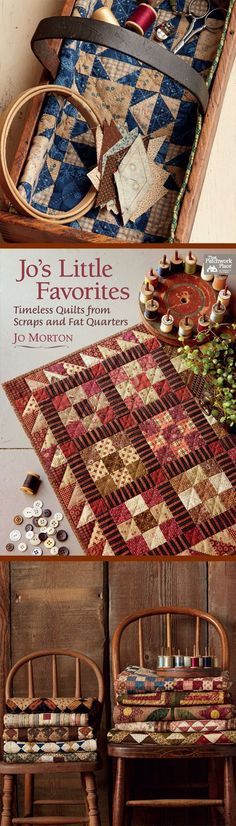 Make small quilts with your stash of reproduction scraps and fat quarters