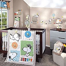 The Bff Snoopy Nursery Collection By Lambs Ivy Features Best Friends And Woodstock Amongst Bright Colors An Array Of Bold Patterns
