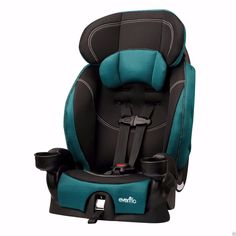 Toddlers Car Seat Jubilee 5 Point Harness Booster Kids Securely Head Rest Pillow #Evenflo