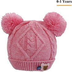 445bcff33a6 Baby Kids Winter Beanie Hat - Toddler Girls Crochet Fur Hat