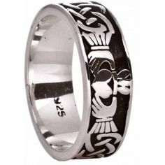Silver Celtic Claddagh Ring